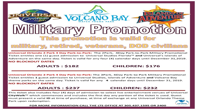 Universal Military Promotion Tickets