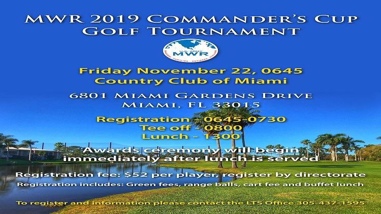 2019  MWR Commander's Cup Golf Tournament