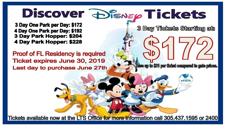 Disney Discover Tickets