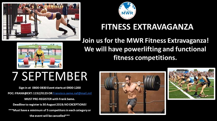 US Army MWR :: View Event :: POWER LIFTING AND FUNCTIONAL