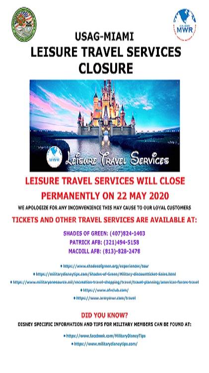 Leisure Travel Services Closure